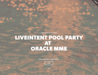 liveintentpoolparty.splashthat.com screenshot
