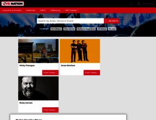livenation.co.uk screenshot