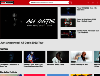 livenation.com screenshot