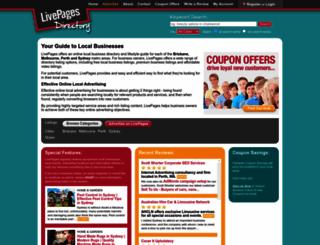 livepages.com.au screenshot