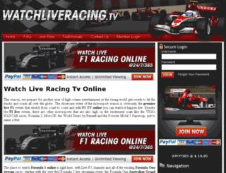 liveracingonline.com screenshot