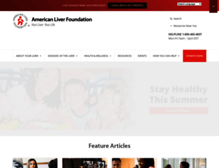 liverfoundation.org screenshot