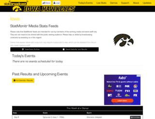 livestats.hawkeyesports.com screenshot