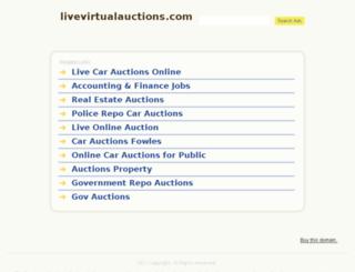 livevirtualauctions.com screenshot