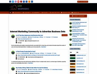 livewebmarks.com screenshot