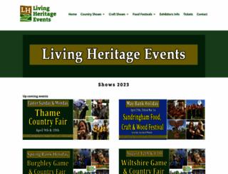 livingheritagecountryshows.com screenshot
