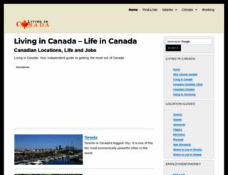 livingin-canada.com screenshot