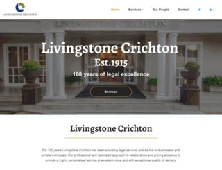 livingstonecrichton.co.za screenshot