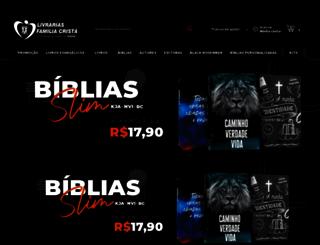 livrariasfamiliacrista.com.br screenshot