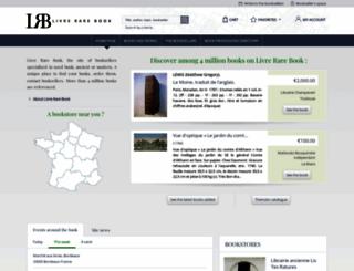 livre-rare-book.com screenshot