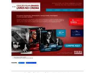 livrosnocinema.folha.com.br screenshot