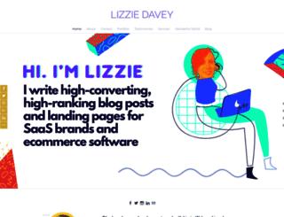 lizziedavey.com screenshot