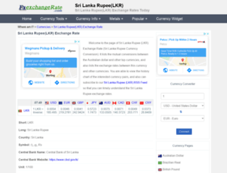 lkr.fxexchangerate.com screenshot