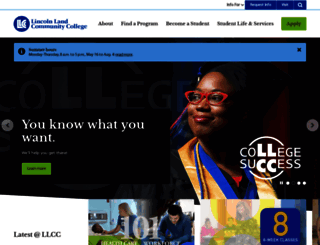 llcc.edu screenshot