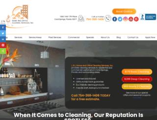 llhomecleaningservices.com screenshot