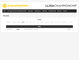 lligues.championchip.cat screenshot