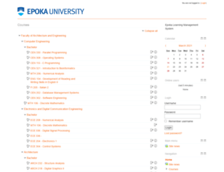lms.epoka.edu.al screenshot
