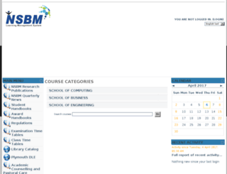 lms.nsbm.lk screenshot