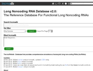 lncrnadb.org screenshot