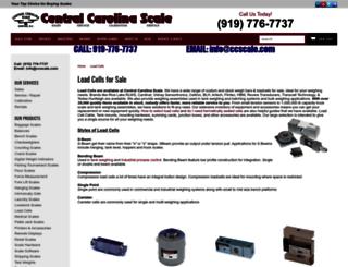 loadcells.centralcarolinascale.com screenshot