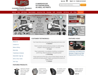 loaderpartssource.com screenshot