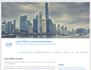 loanofficerlicense.net screenshot