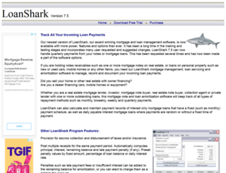 loansharksoftware.com screenshot