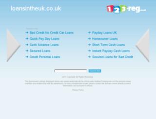 loansintheuk.co.uk screenshot