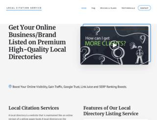 localcitationservices.com screenshot