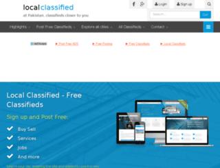 localclassified.com.pk screenshot