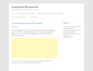 localizzatoregps.com screenshot