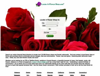 locateaflowershop.com screenshot