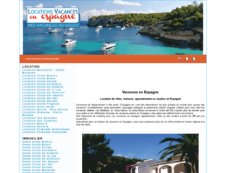 location-vacances-en-espagne.com screenshot