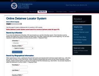 locator.ice.gov screenshot