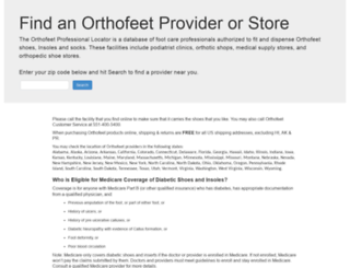locator.orthofeet.com screenshot