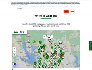 locatorsearch.allpointnetwork.com screenshot