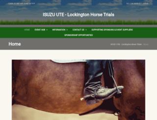 lockingtonhorsetrials.com.au screenshot