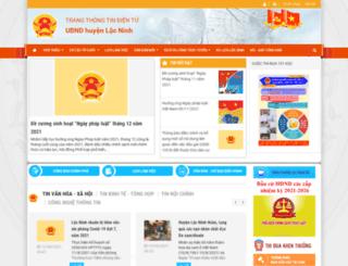 locninh.binhphuoc.gov.vn screenshot