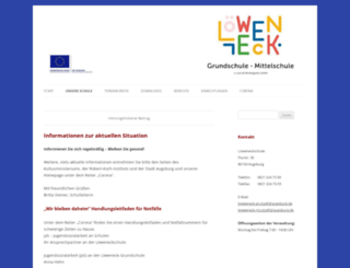 loeweneckschule.de screenshot