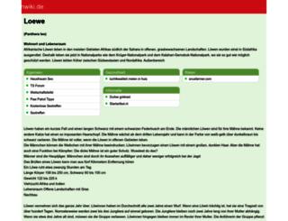 loewenwiki.de screenshot