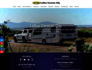 loftuscaravans.co.za screenshot