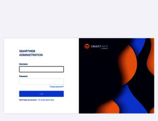 login-w9.smart-web.dk screenshot