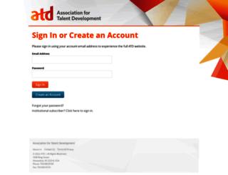 login.astd.org screenshot