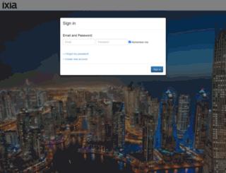login.ixiacom.com screenshot
