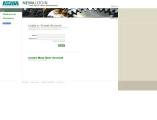 login.nema.org screenshot