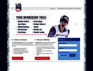 login.ussa.org screenshot