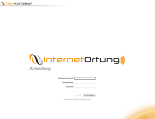 login2.internetortung.de screenshot