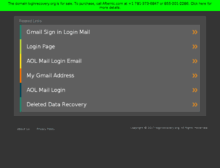 loginrecovery.org screenshot