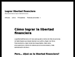 lograrlibertadfinanciera.com screenshot