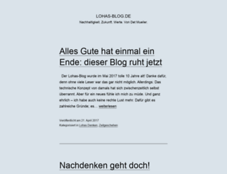 lohas-blog.de screenshot